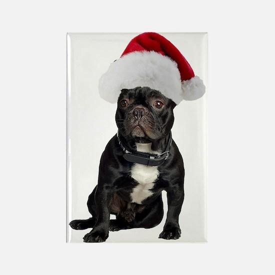 French Bulldog Christmas Rectangle Magnet