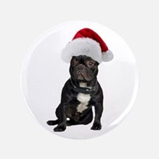 "French Bulldog Christmas 3.5"" Button"