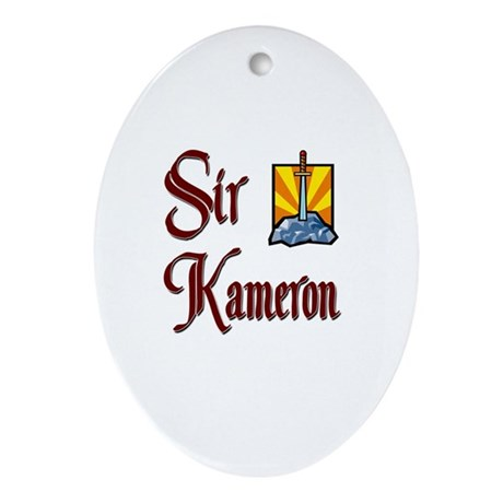 Sir Kameron Oval Ornament
