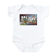 Raleigh North Carolina Greetings Infant Bodysuit