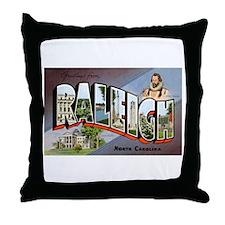 Raleigh North Carolina Greetings Throw Pillow