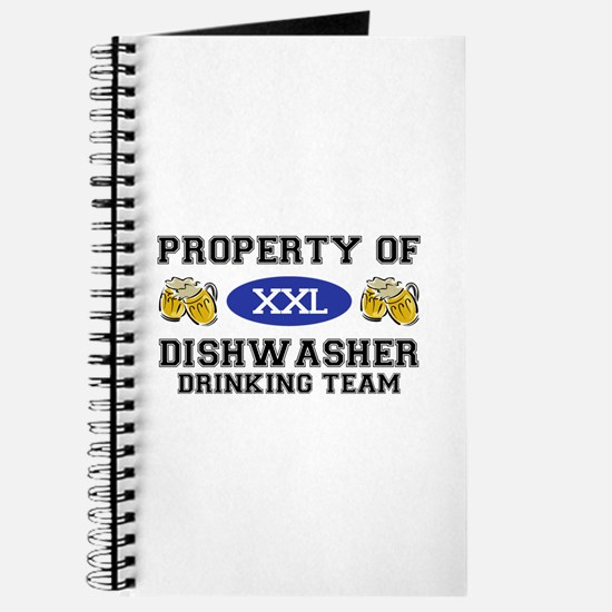 Property of Dishwasher Drinking Team Journal