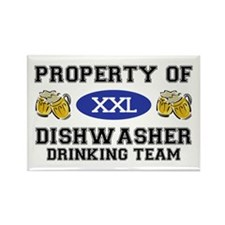 Property of Dishwasher Drinking Team Rectangle Mag