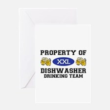 Property of Dishwasher Drinking Team Greeting Card