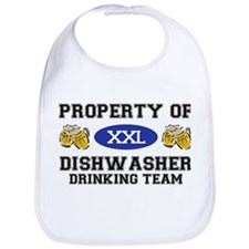 Property of Dishwasher Drinking Team Bib