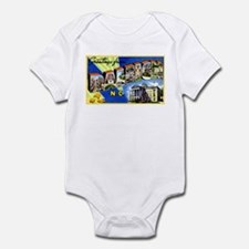 Raleigh North Carolina Greetings Infant Bodysuit
