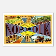Norfolk Virginia Greetings Postcards (Package of 8