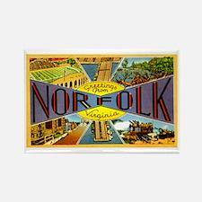 Norfolk Virginia Greetings Rectangle Magnet