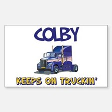 Colby Keeps on Truckin Rectangle Decal