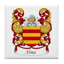 Alma Family Crest Tile Coaster