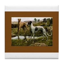 Three Greyhounds Tile Coaster
