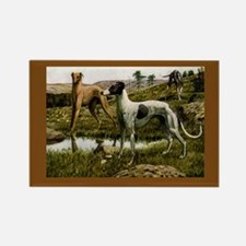 Three Greyhounds Rectangle Magnet