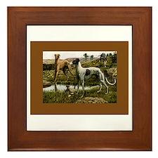 Three Greyhounds Framed Tile