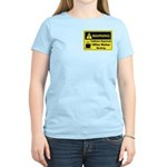 Caffeine Warning Office Worker Women's Light T-Shi