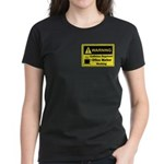 Caffeine Warning Office Worker Women's Dark T-Shir