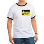 Caffeine Warning Office Worker Ringer T