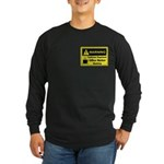 Caffeine Warning Office Worker Long Sleeve Dark T-