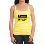 Caffeine Warning Office Worker Jr. Spaghetti Tank