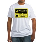 Caffeine Warning Office Worker Fitted T-Shirt