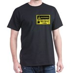 Caffeine Warning Office Worker Dark T-Shirt