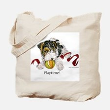 Fox Terrier Puppy Tote Bag