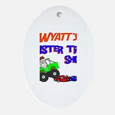 Wyatt's Monster Truck Oval Ornament