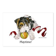Fox Terrier Puppy Postcards (Package of 8)