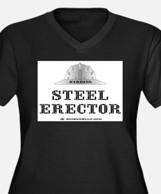 Steel Erector Women's Plus Size V-Neck Dark T-Shir