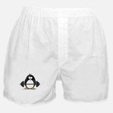 Weight lifting penguin Boxer Shorts