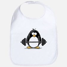 Weight lifting penguin Bib