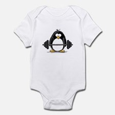 Weight lifting penguin Infant Bodysuit