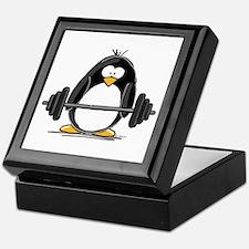 Weight lifting penguin Keepsake Box