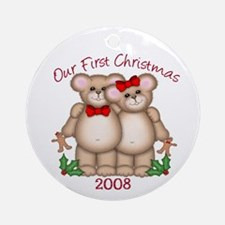 Our First Christmas Teddy Bears Dated Ornament