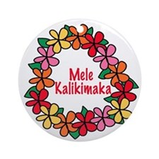 Mele Kalikimaka Hawaiian Christmas Ornament