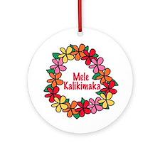 Mele Kalikimaka Hawaiian Christmas Ornament