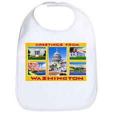 Washington DC Greetings Bib