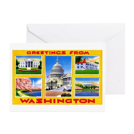 Washington DC Greetings Greeting Cards (Pk of 10)