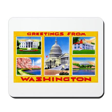 Washington DC Greetings Mousepad