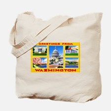 Washington DC Greetings Tote Bag