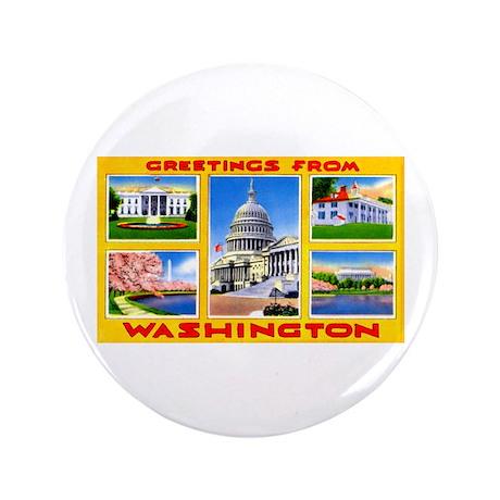 "Washington DC Greetings 3.5"" Button"