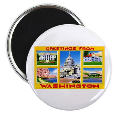 Washington DC Greetings Magnet