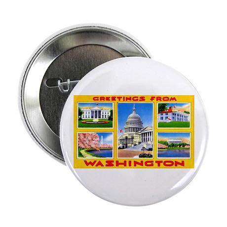"Washington DC Greetings 2.25"" Button (10 pack)"