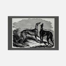 Two Greyhounds Rectangle Magnet