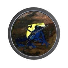 dyeing poison dart frog Wall Clock