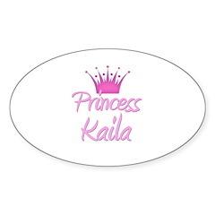 Princess Kaila Oval Decal
