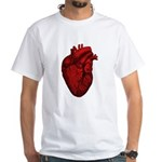 Vintage Anatomical Human Heart White T-Shirt