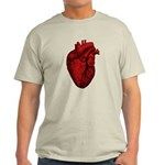 Vintage Anatomical Human Heart Light T-Shirt