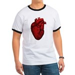 Vintage Anatomical Human Heart Ringer T-Shirt