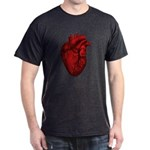 Vintage Anatomical Human Heart Dark T-Shirt