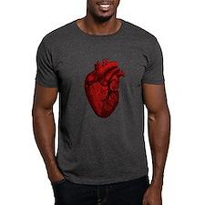 Vintage Anatomical Human Heart T-Shirt
